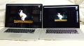 17インチMacBook Proと15インチMacBook Pro Retina